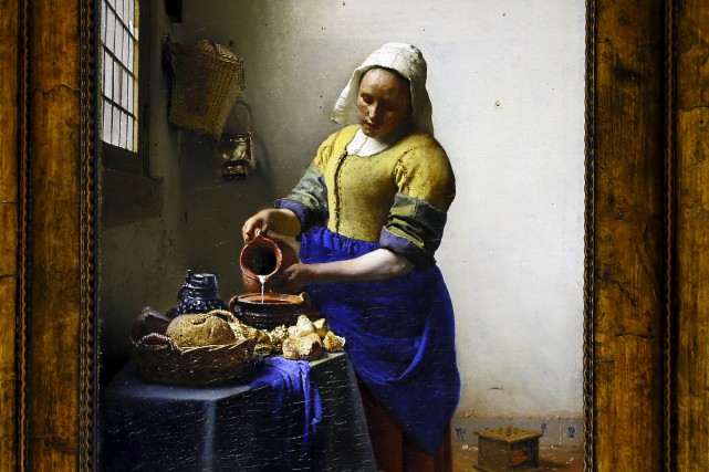 L'iconique «La Laitière» sera l'une desdouze oeuvres deVermeer... (AP, François Mori)
