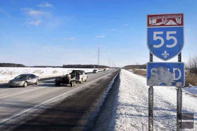 L'autoroute 55... (François Gervais, Le Nouvelliste)