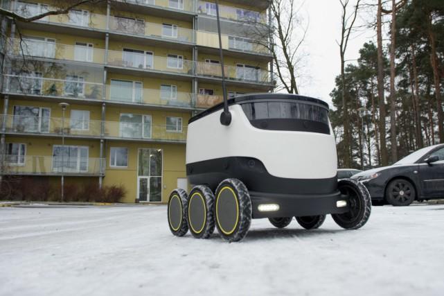 L'Estonie, où est conçu et testé le robot,... (PHOTO Raigo Pajula, AFP)