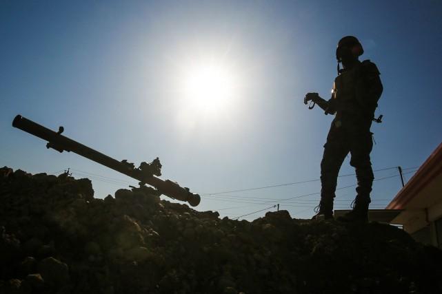 Quelque 450 conseillers militaires américains se trouvent actuellement... (PHOTO AFP)