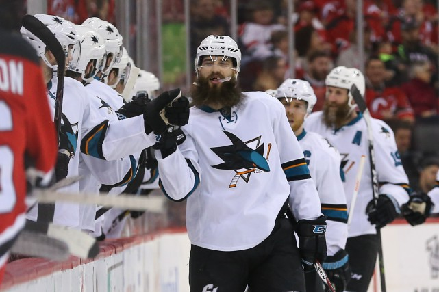 Brent Burns a marqué jusqu'ici 27 buts, le... (Photo Ed Mulholland, USA TODAY Sports)
