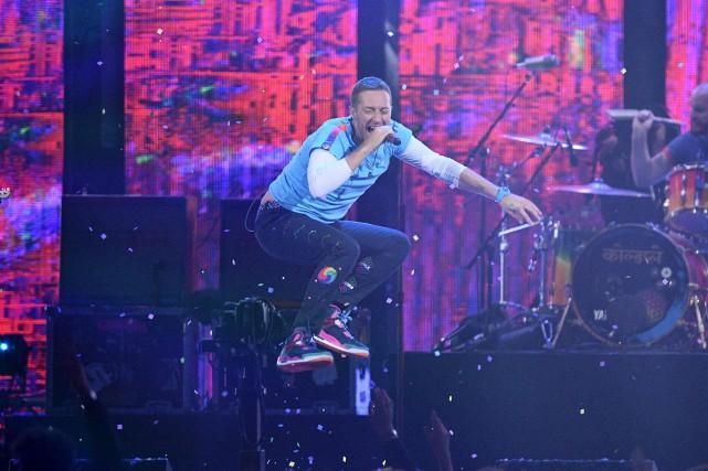 Chris Martin de Coldplay... (Archives AFP, Justin Tallis)