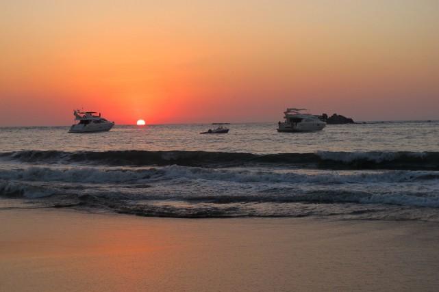 Coucher de soleil sur Ixtapa... (La Presse, Nathaëlle Morissette)