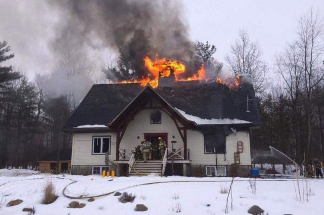 Un incendie d'origine accidentelle a lourdement endommagé une... (fournie)