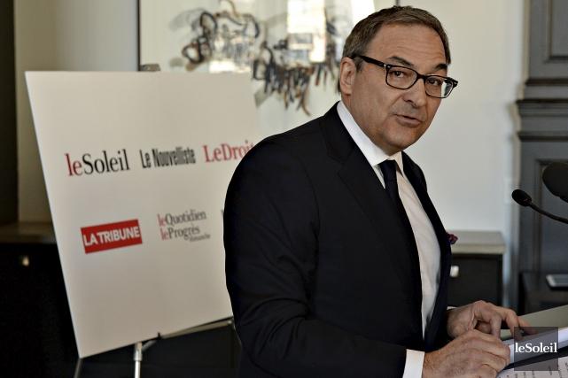 Martin Cauchon (photo) de Groupe Capitales Médias et... (Photothèque Le Soleil, Patrice Laroche)