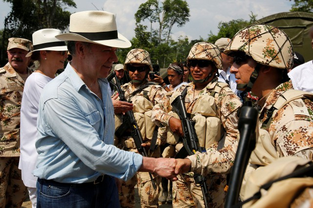 La guérilla des Forces armées révolutionnaires de Colombie... (REUTERS)