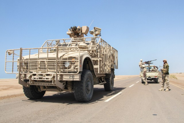 Les forces loyales au président Abd Rabbo Mansour... (PHOTO SALEH AL-OBEIDI, AGENCE FRANCE-PRESSE)