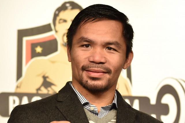 Manny Pacquiao... (Photo Kazuhiro Nogi, archives AFP)