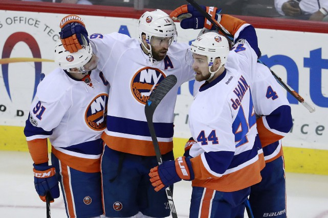 Les Islanders de New York ont remporté 11... (Photo Julio Cortez, AP)