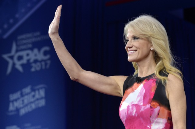 La conseillère de Donald Trump Kellyanne Conway, celle à... (PHOTO AFP)