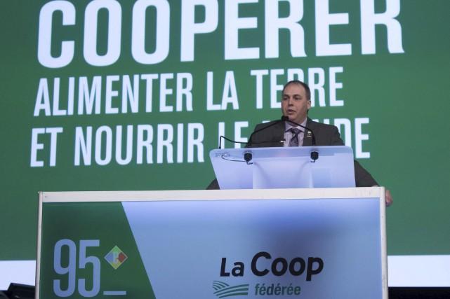 Le président de la Coop fédérée, Ghislain Gervais,... (Fournie par La Coop fédérée)