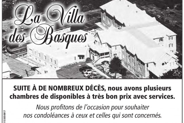 La publicité de la Villa des Basques est... (IMAGE TIRÉE DE L'INTERNET)