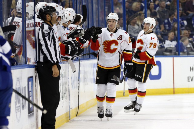 Sean Monahan... (Photo Kim Klement, USA TODAY Sports)