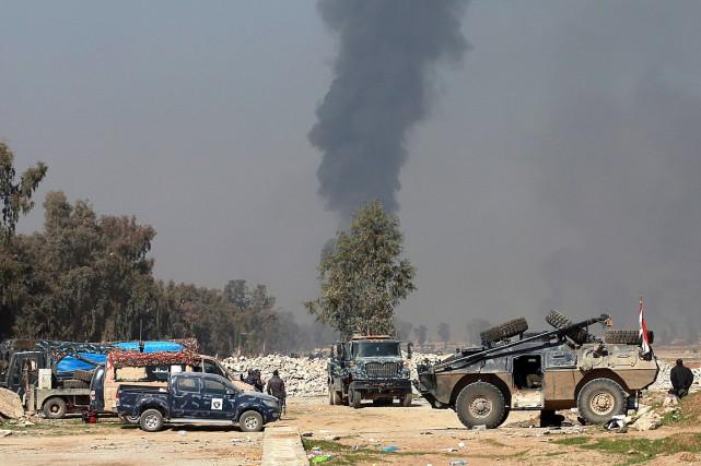 Les forces irakiennes ont repris l'aéroport désaffecté de... (Photo Khalid Mohammed, AP)