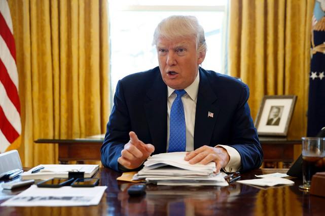 Le président américain Donald Trumpa écrit sur Twitter... (PHOTO JONATHAN ERNST, REUTERS)