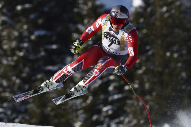 ErikGuay a terminé à 25 centièmes de seconde... (Photo Alessandro Trovati, AP)