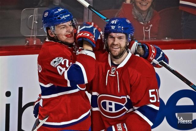 Sven Andrighetto et David Desharnais... (Photo André Pichette, archives La Presse)