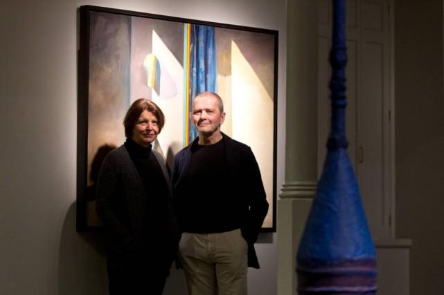 Isabelle Leduc et François Vincent dans la salle... (Photo François Roy, La Presse)