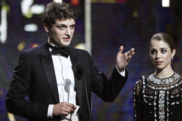 Niels Schneider a remporté le César du meilleur... (PHOTO AFP)