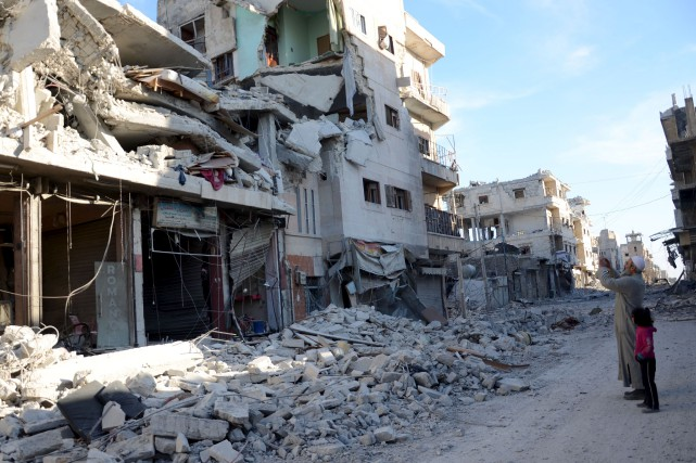 La ville d'Al-Bab, tombée jeudi aux mains des... (AFP, Nazeer al-Khatib)