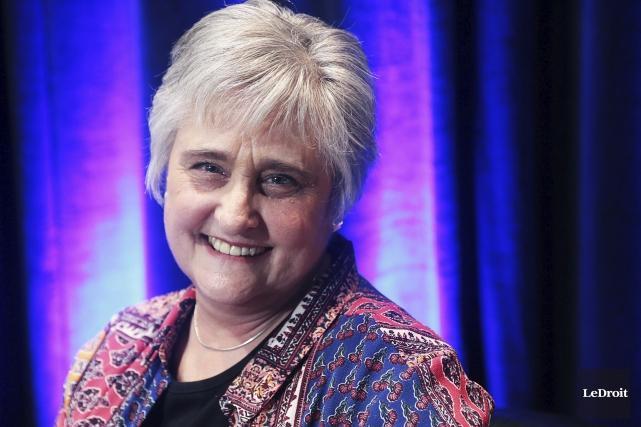 Michèle Vinet, lauréate du prix fiction... (Etienne Ranger, Le Droit)
