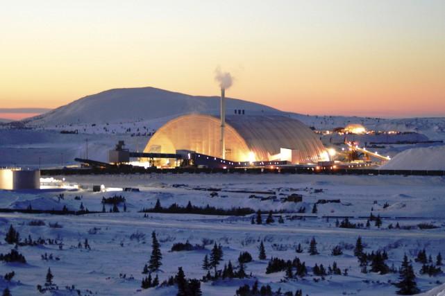 Investissement Québec a mis 125 millions $ dans... (Fournie par Tata Steel Minerals DSO Project)