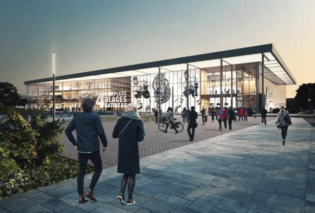 Le projet d'aréna pour remplacer le centre Robert-Guertin... (Courtoisie, Ville de Gatineau)