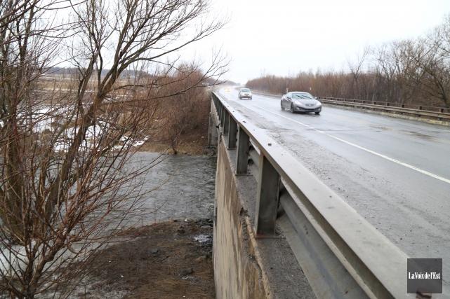 La rivière Yamaska Nord, située en aval de... (Janick Marois, La Voix de l'Est)