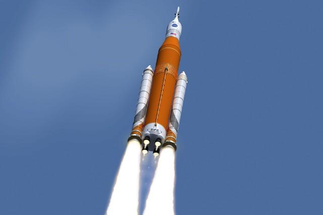 Le premier vol d'Orion, baptisé Exploration Mission-1 (EM-1),... (Photo AP)