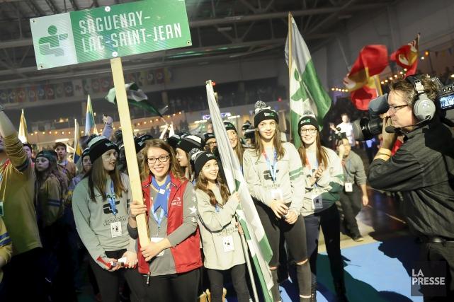 La délégation du Saguenay-Lac-Saint-Jean.... (Archives Le Progrès-Dimanche, Gimmy Desbiens)