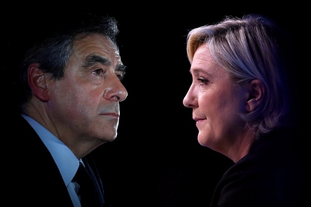 Le candidat de droite François Fillon et la... (PHOTOS CHRISTIAN HARTMANN, ARCHIVES REUTERS)