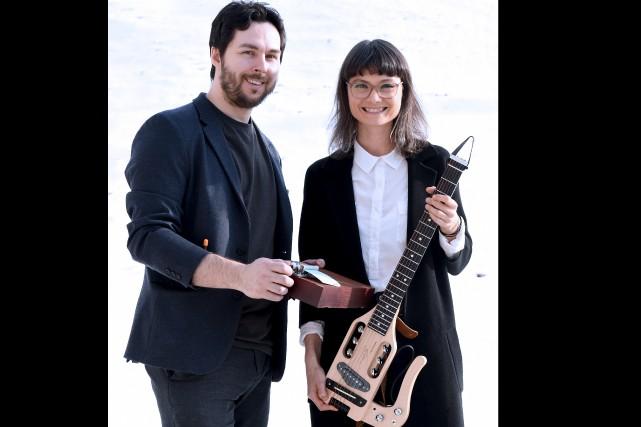 Guillaume Thibert et Sara Létourneau forment Stellaire. Ils... (Le Progrès-Dimanche, Rocket Lavoie)
