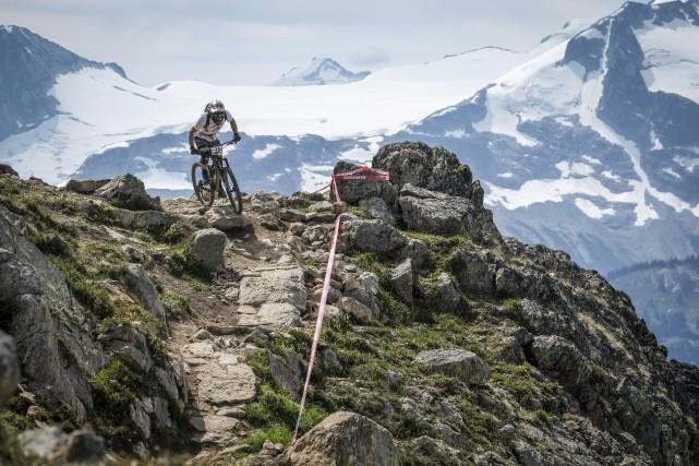 Jacob Larouche-Tremblay a découvert le vélo de montagne... (Courtoisie)