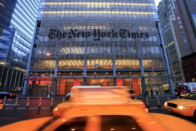 LeNew York Timesn'avait pas réalisé de publicité télévisée... (Photo Mark Lennihan, ASSOCIATED PRESS)