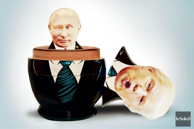 Les relations entre le président Donald Trump et la Russie ressemblent à une... (Infographie Le Soleil)