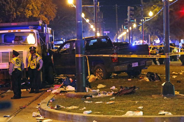 Les événements se sont déroulés près de l'intersection... (Photo AP)