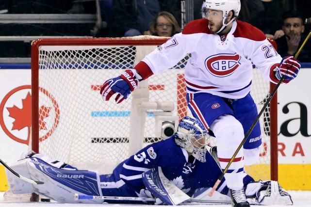 Alex Galchenyuk a touché la cible pour le... (Photo La Presse Canadienne)