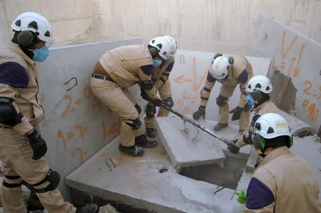The White Helmets(Les Casques blancs), réalisé par Orlando... (AP, Netflix)