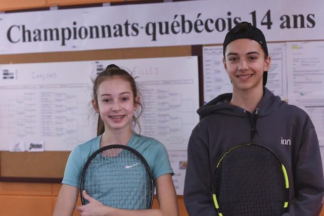 Élizabeth Houde et Jérémi Gagnon ne pourront pas... (Le Progrès-Dimanche, Michel Tremblay)