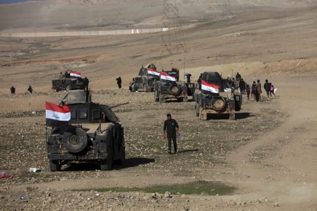 Depuis le lancement de l'opération sur l'ouest de... (Photo Khalid Mohammed, Associated Press)