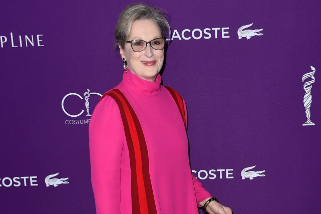 Meryl Streep a accusé le couturier Karl Lagerfeld... (PHOTO CHRIS DELMAS, ARCHIVES AFP)
