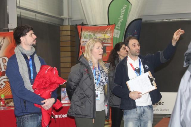 Le comité des Jeux 2018 a visité le... (Photo La Pige)