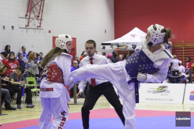 La taekwondoiste Marianne Girard a été dominante dans... (Photo Le Quotidien, Guillaume Pelletier)