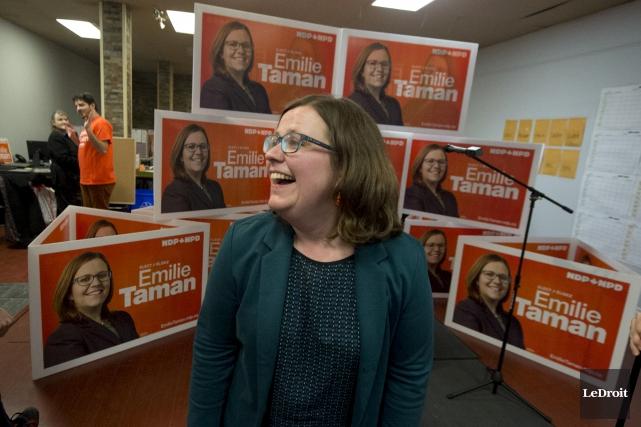 PHOTO MARTIN ROY Le Droit Emile Taman candidate... (Martin Roy, Le Droit)