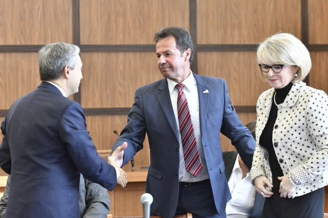 Le ministre du Commerce international et député de... (Stéphane Lessard)