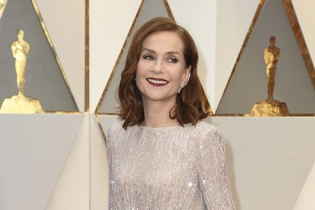 Isabelle Huppert est en nomination pour l'Oscar de... (AP, Jordan Strauss)