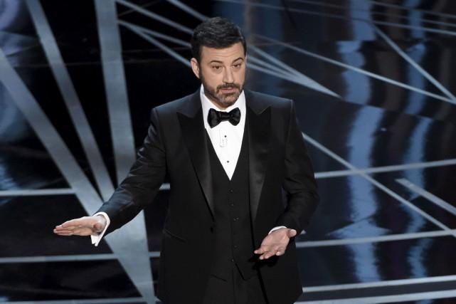 Jimmy Kimmela enchaîné les références à Donald Trump... (AP, Chris Pizzello)