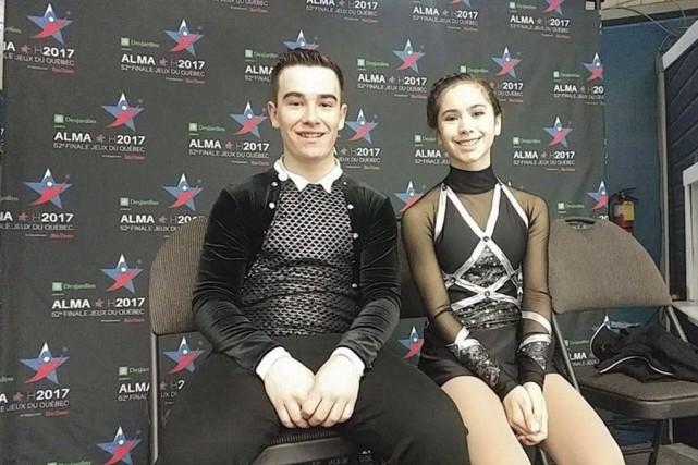 Les patineurs artistiques Louis-Simon Bergevin et Élizabeth Lupien,... (tirée de Facebook)