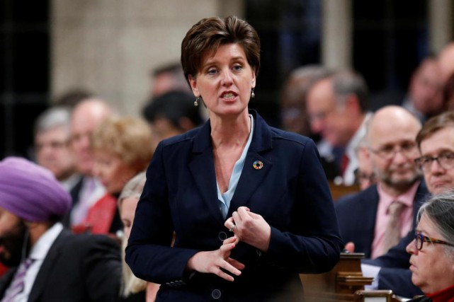 Marie-Claude Bibeau, ministre de la Coopération internationale du... (PHOTO REUTERS)