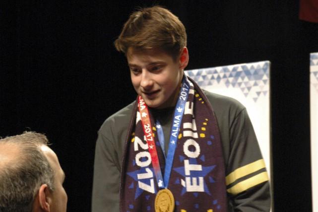 Le gymnaste sherbrookois Jérôme Pilon a célébré son... (Courtoisie, Jérémie Tessier)